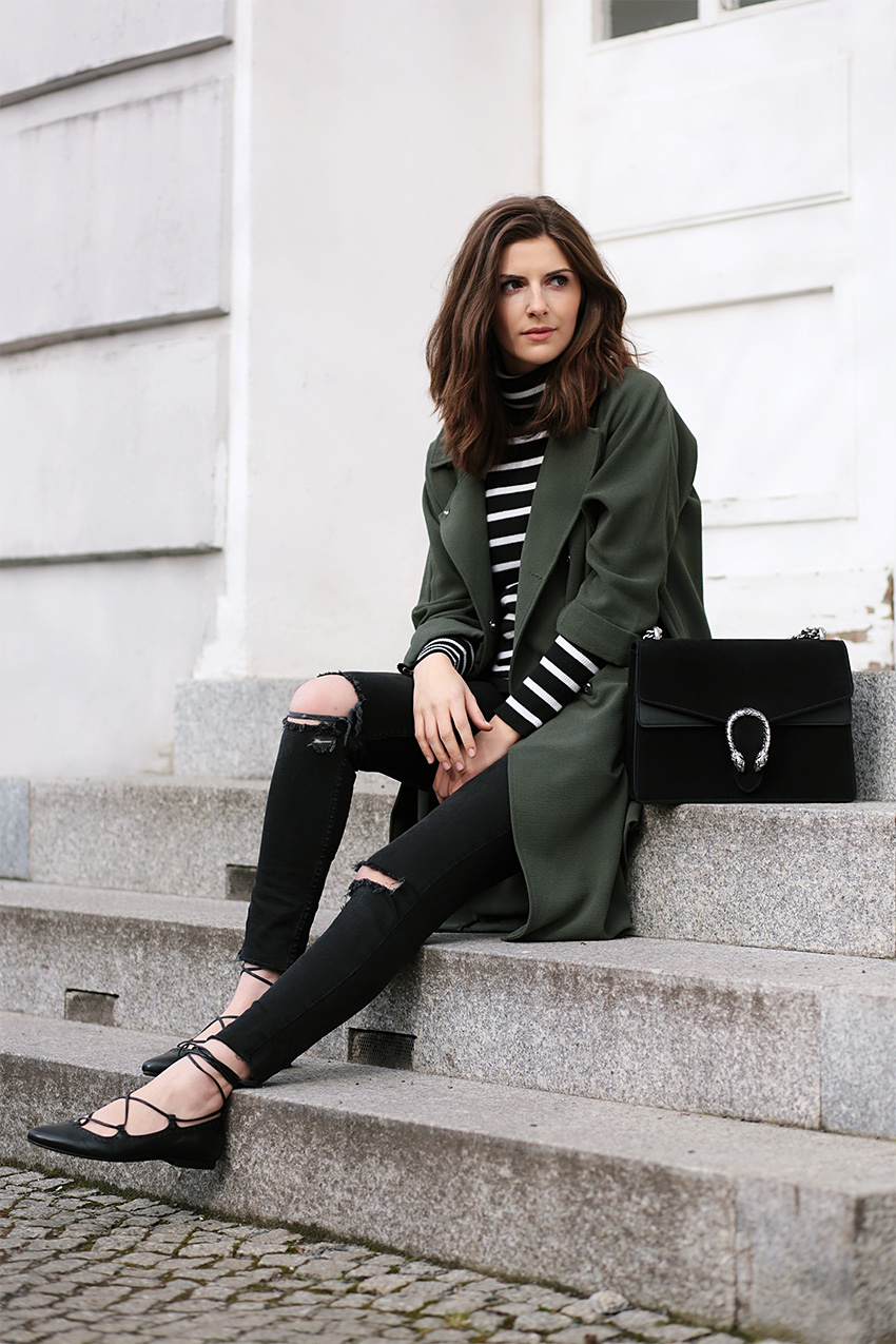 gucci dionysus black outfit 1 Olive Trench and Gucci Dionysus