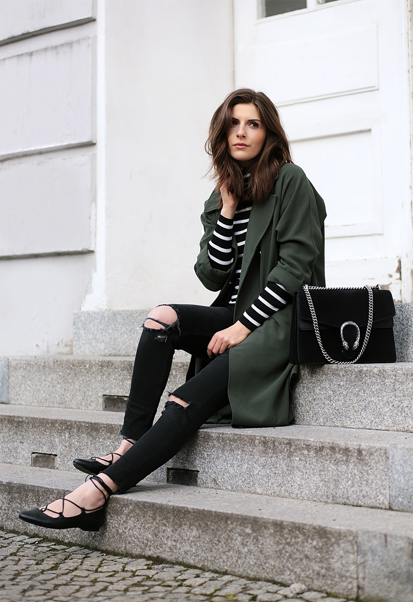gucci dionysus black outfit 4 Olive Trench and Gucci Dionysus