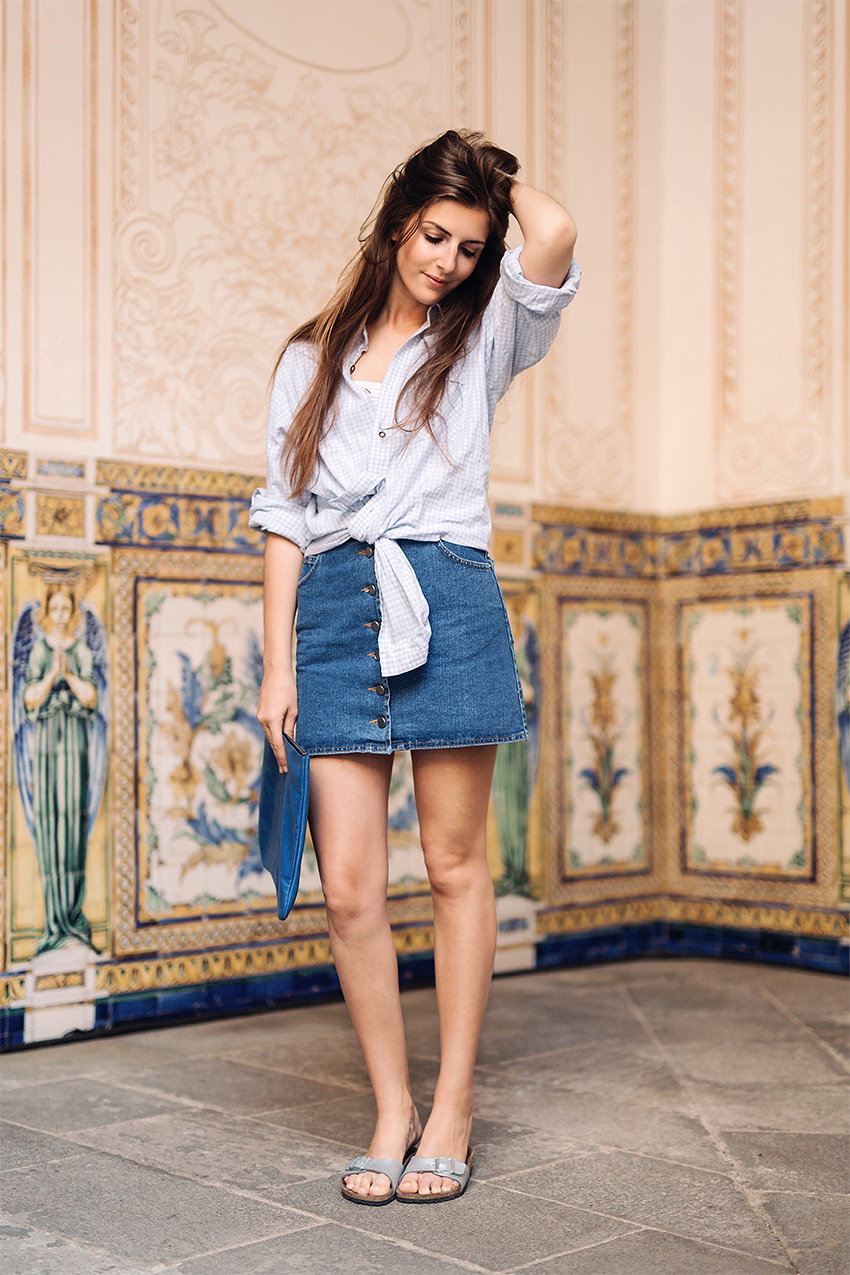 how to wear boyfriend shirts 2 My July Outfits