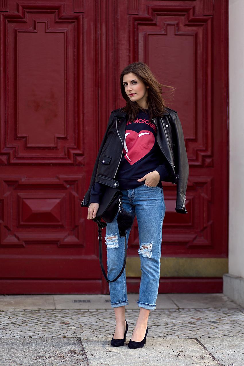 moschino leather jacket 2 Hey, Valentine
