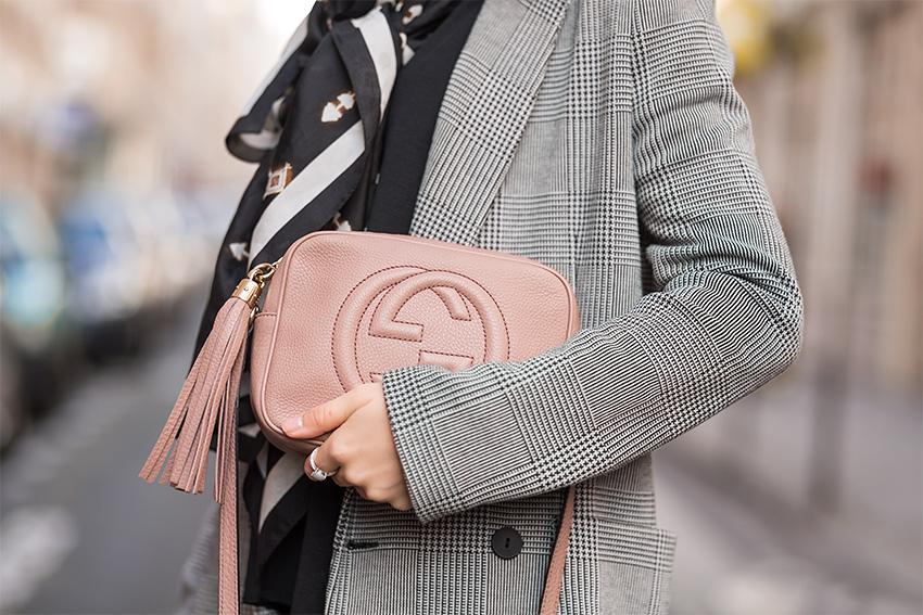 vintage designer rebelle gucci 2 Checkered Blazer and Vintage Gucci