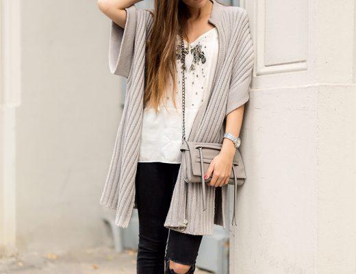 Grey Edited Knit