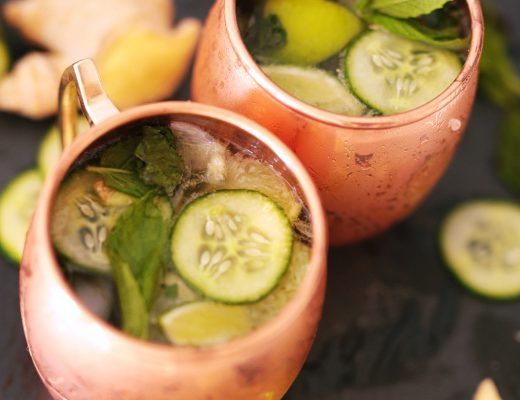 Detox Lemonade with Ginger, Mint and Cucumber