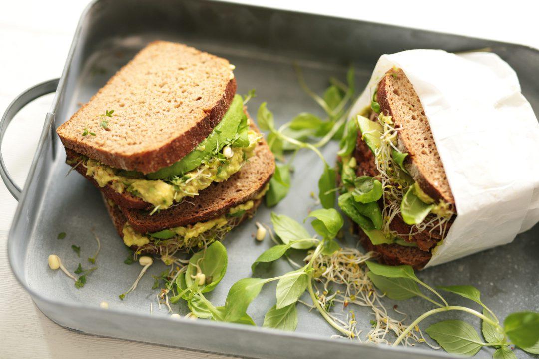 Avocado and Basil Sandwich