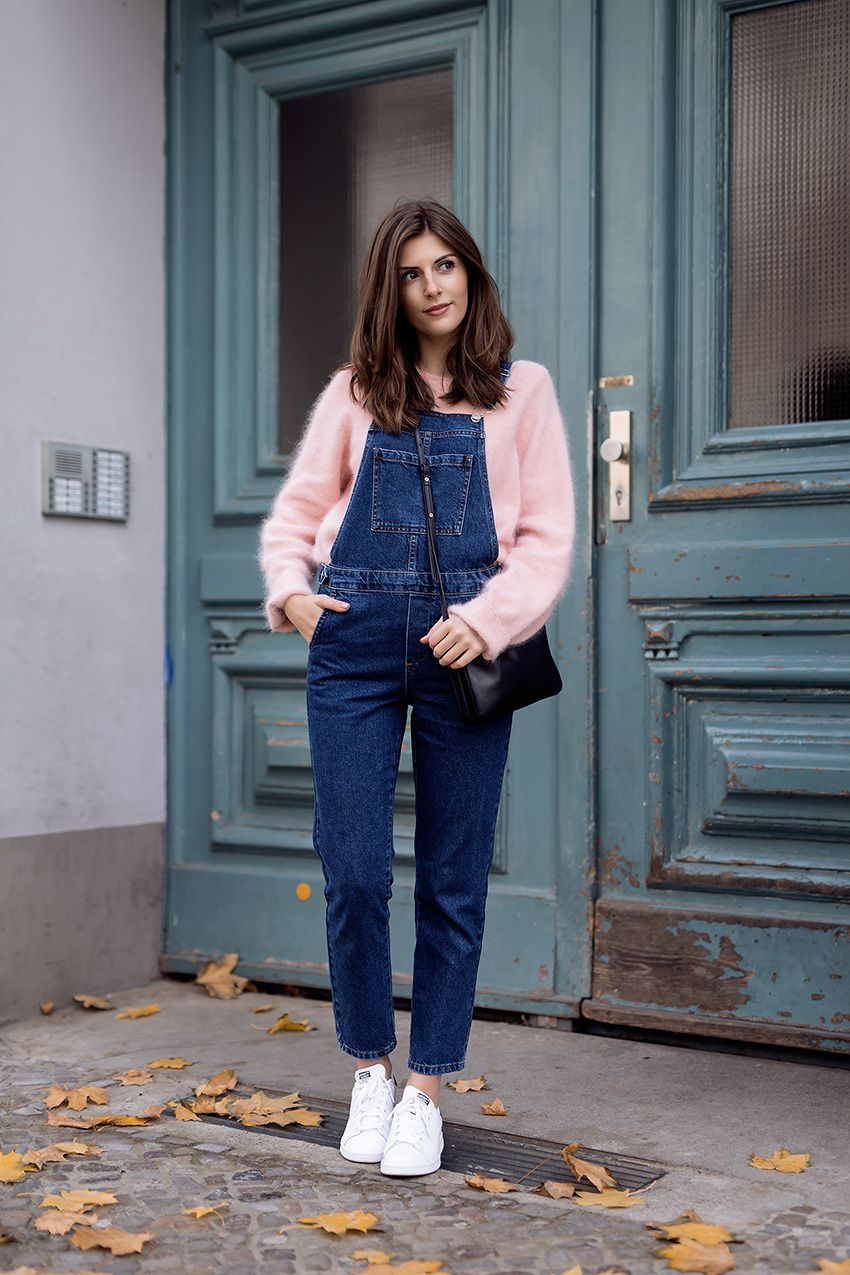 pink pullover topshop dungarees 1