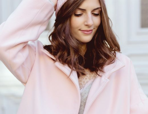 Rosy Winter Look with Promod