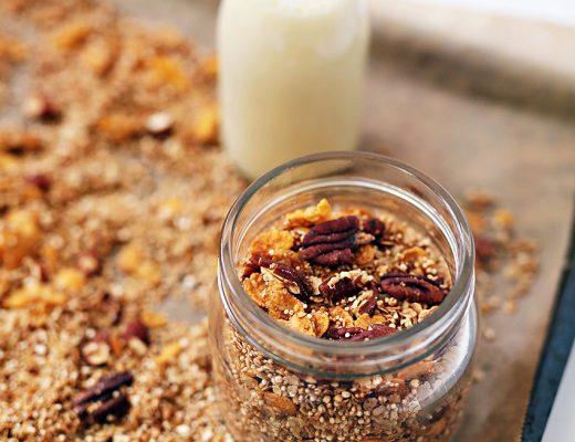 Homemade Pecan Cinnamon Granola