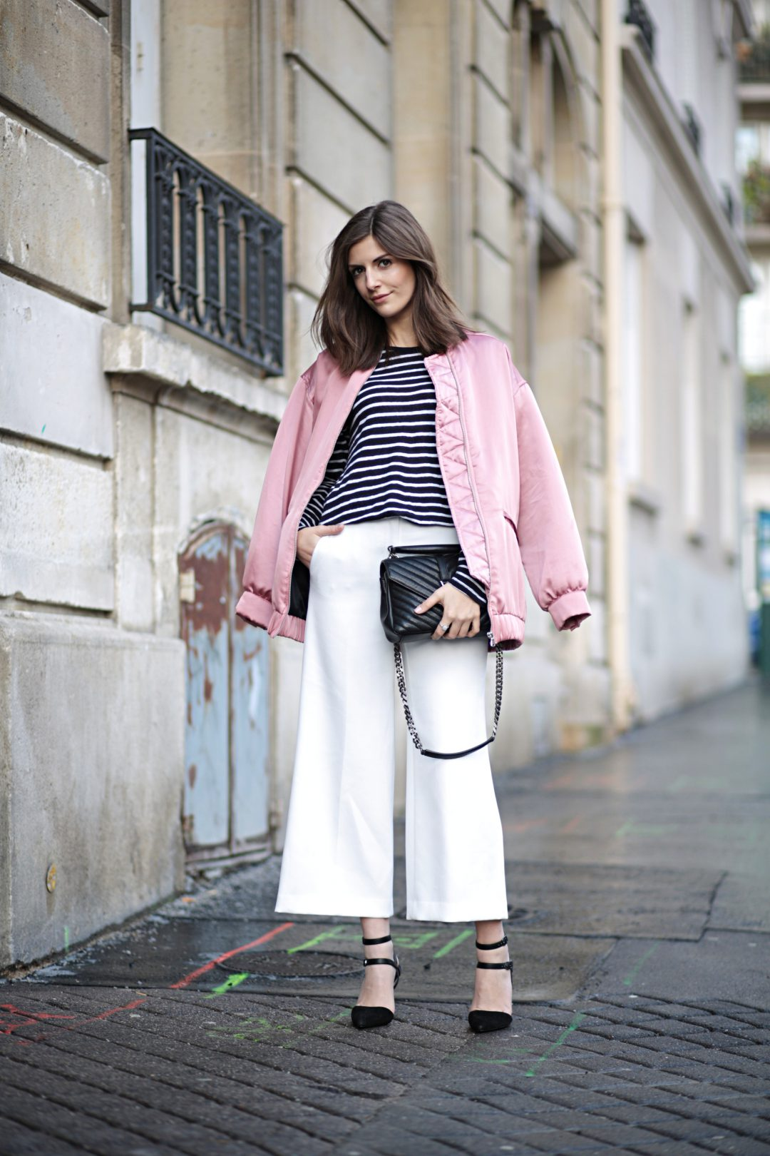 Pink Bomber Jacket at Paris Fashion Week