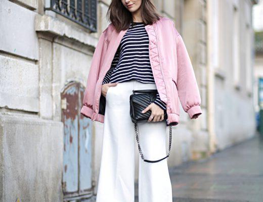 Pink Bomber Jacket at Paris Fashion Week