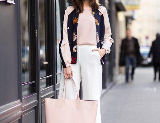Floral Blouson and Horizn Studios Shopper