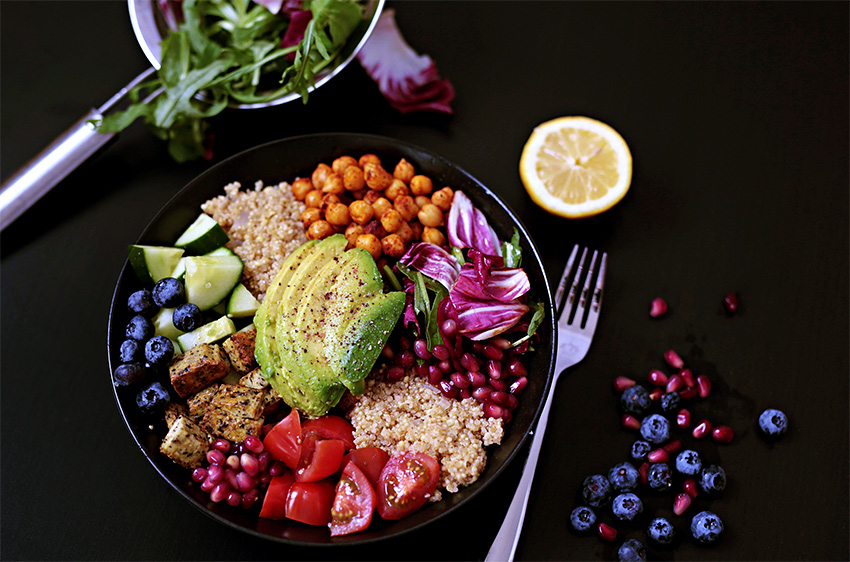 vegan quinoa bowl avocado 2