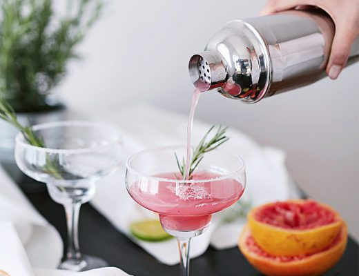 pink grapefruit rosmary cocktail 3