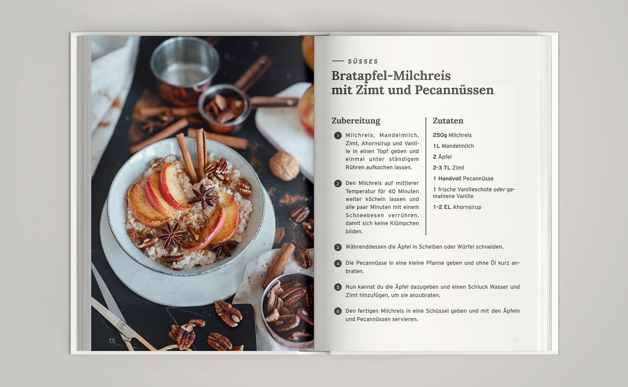 Soulfood zum Wohlfühlen - vegane Rezepte für Herbst und Winter Bratapfel Milchreis
