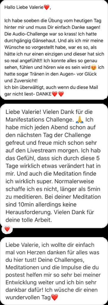 Das sagen Teilnehmerinnen über die Mindful Manifestation Challenge